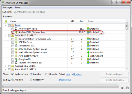 AndroidSDKManager-PlatformTools16.0.2