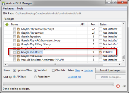 GoogleUSBDriver_AndroidSDKManager